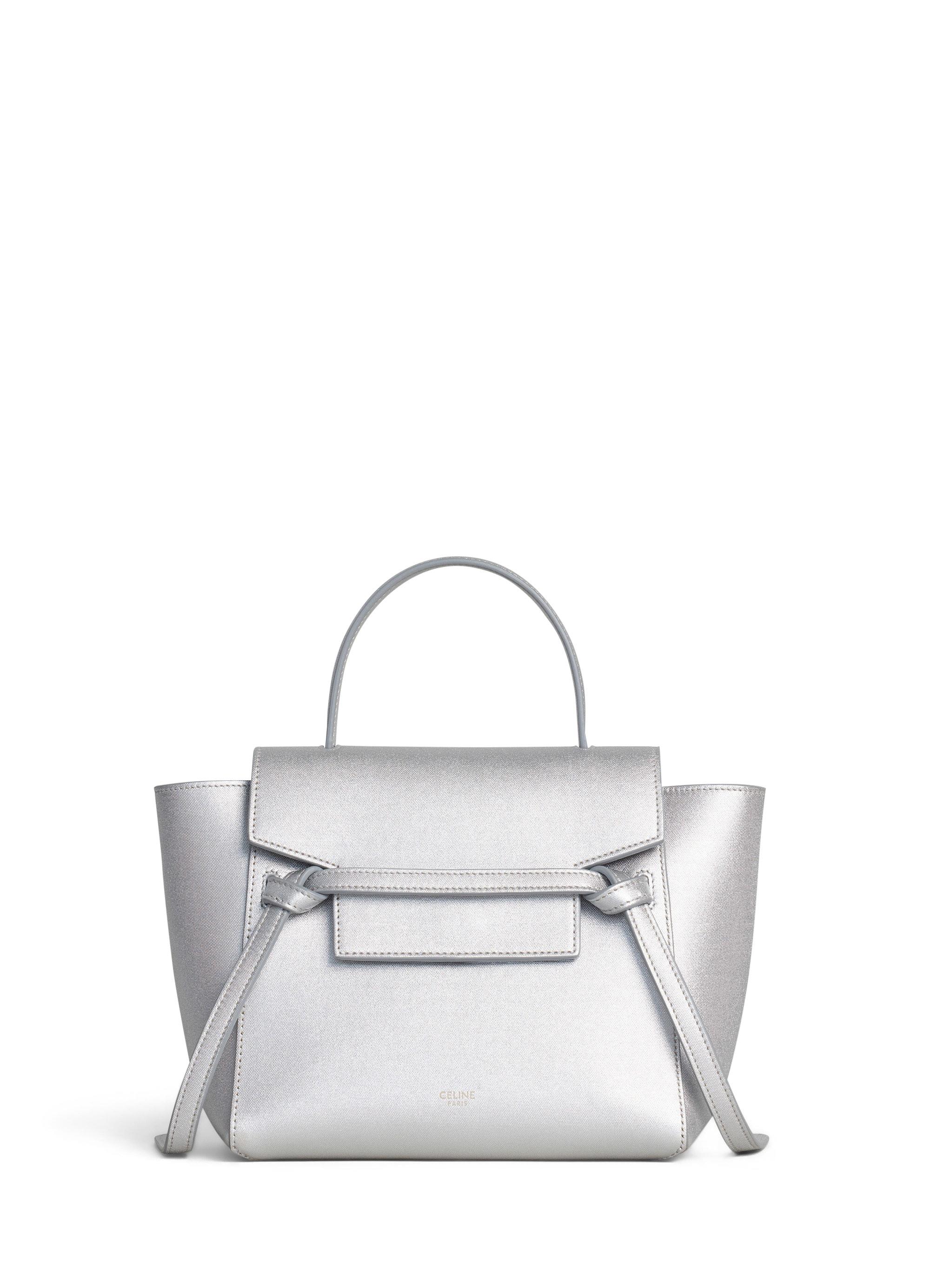Celine Belt Bag Laminated Nano Silver