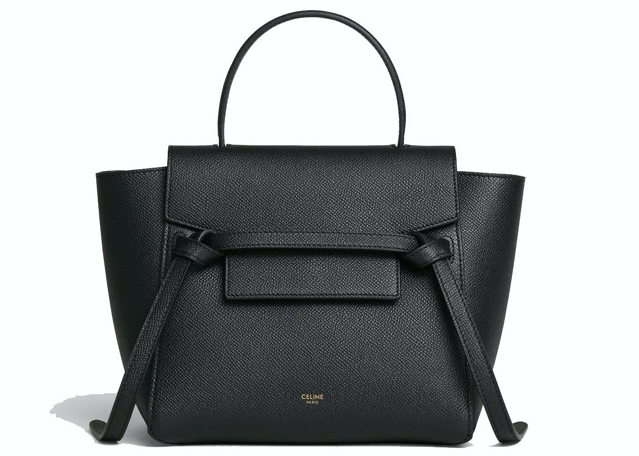 Celine Belt Bag Nano Grained Calfskin Black