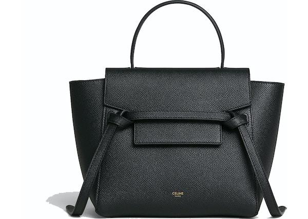 72cf626772 Celine Belt Bag Nano Grained Calfskin Black