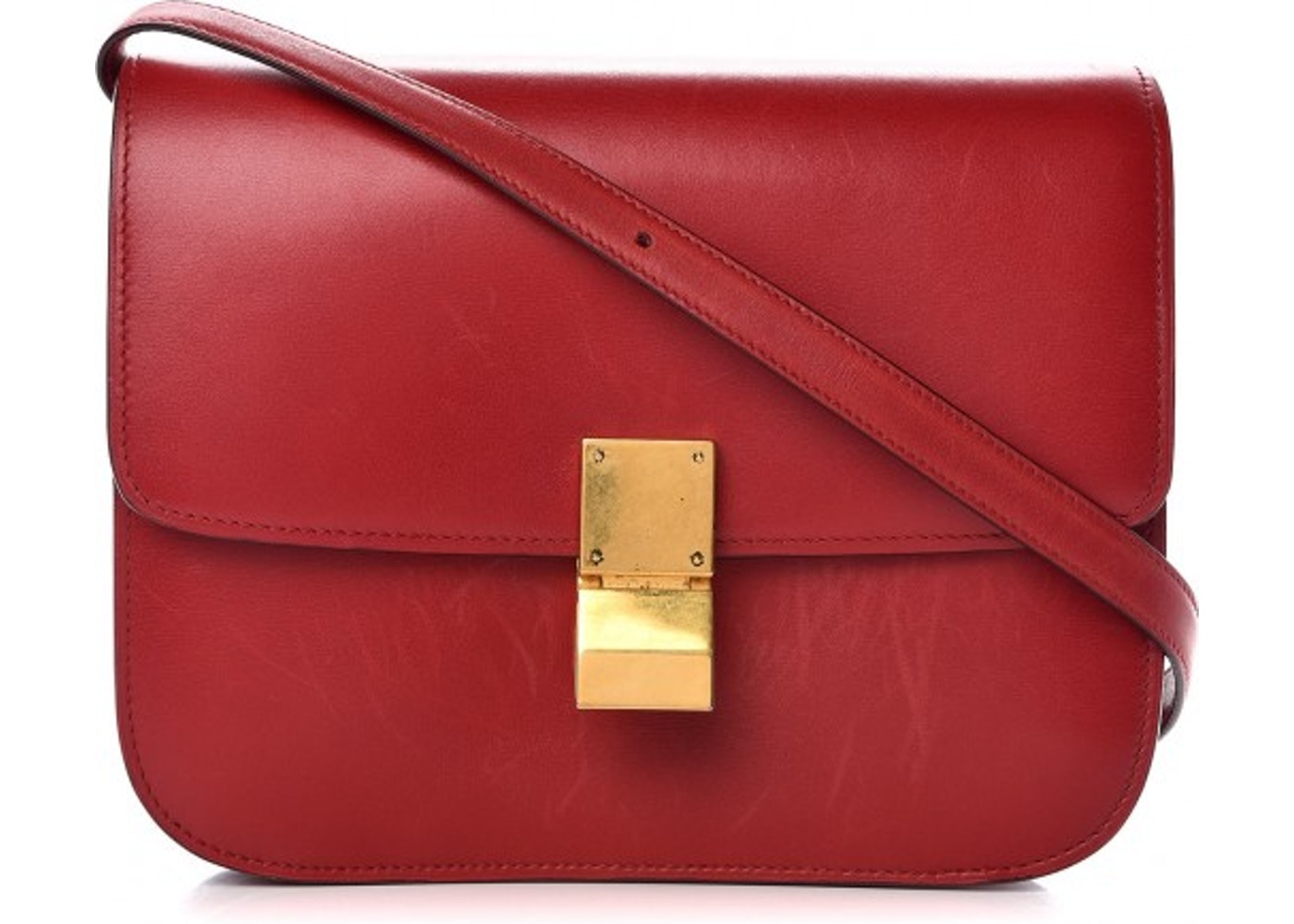 4856d6b6bd Sell. or Ask. View All Bids. Celine Box Shoulder Bag Red