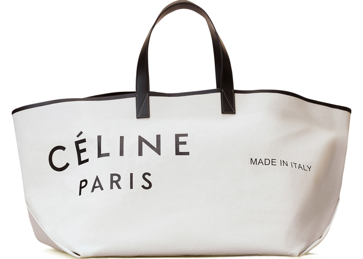 3a0cf4934d Celine Cabas Made In Large White Black