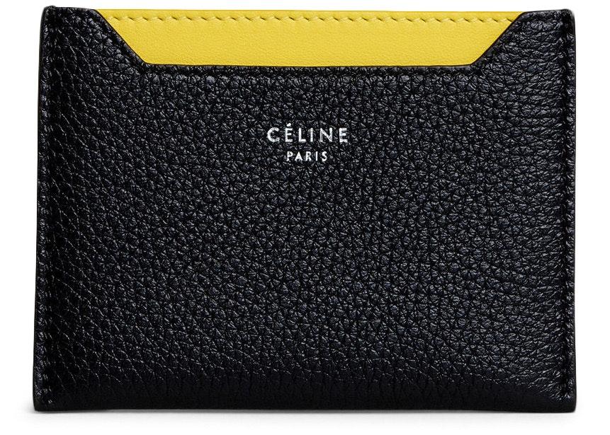 Celine Card Holder Drummed Black