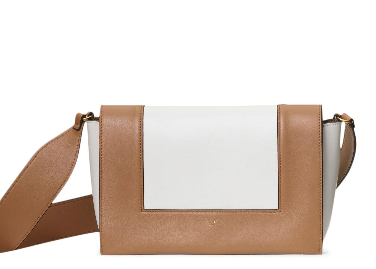 Celine Frame Medium Tan/Optic White