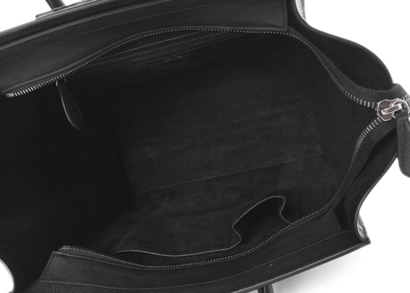 5e407edb55b1 Celine Luggage Drummed Calfskin Mini Black