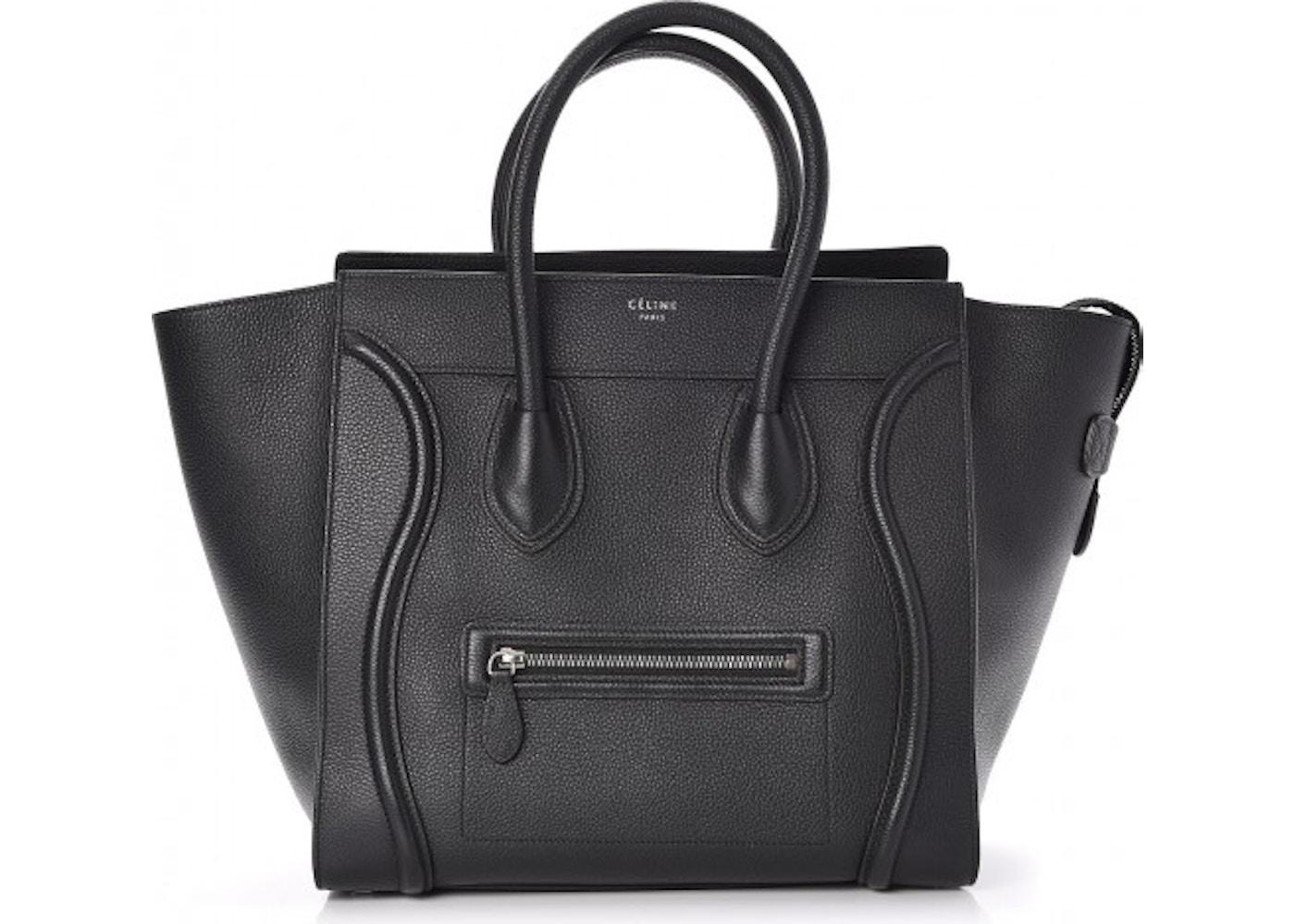 9e48d60cc535 Celine Luggage Drummed Calfskin Mini Black. Drummed Calfskin Mini Black