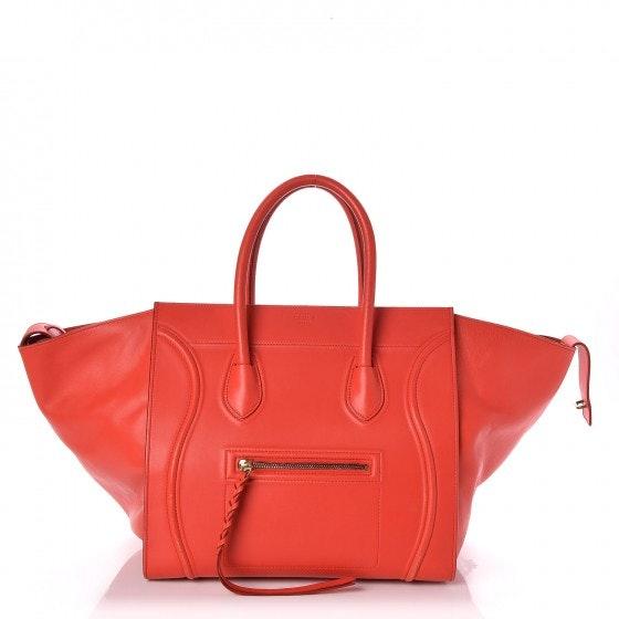 Celine Luggage Medium Phantom Vermillion