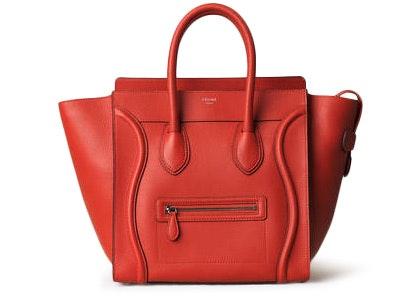 Celine Luggage Mini Vermillion