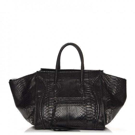Celine Luggage Python Medium Phantom Black
