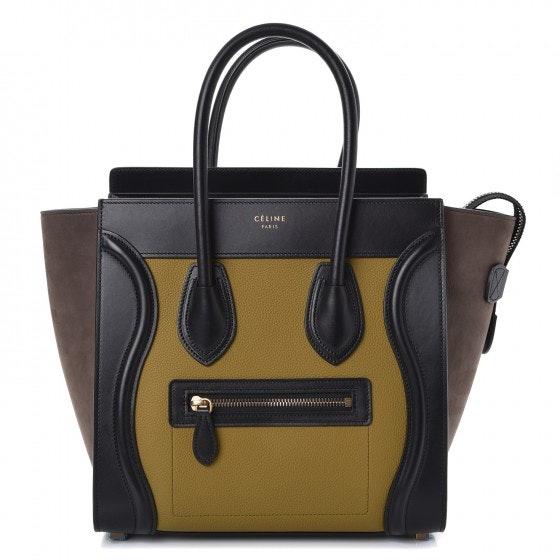 Celine Luggage Tricolor Micro Olive