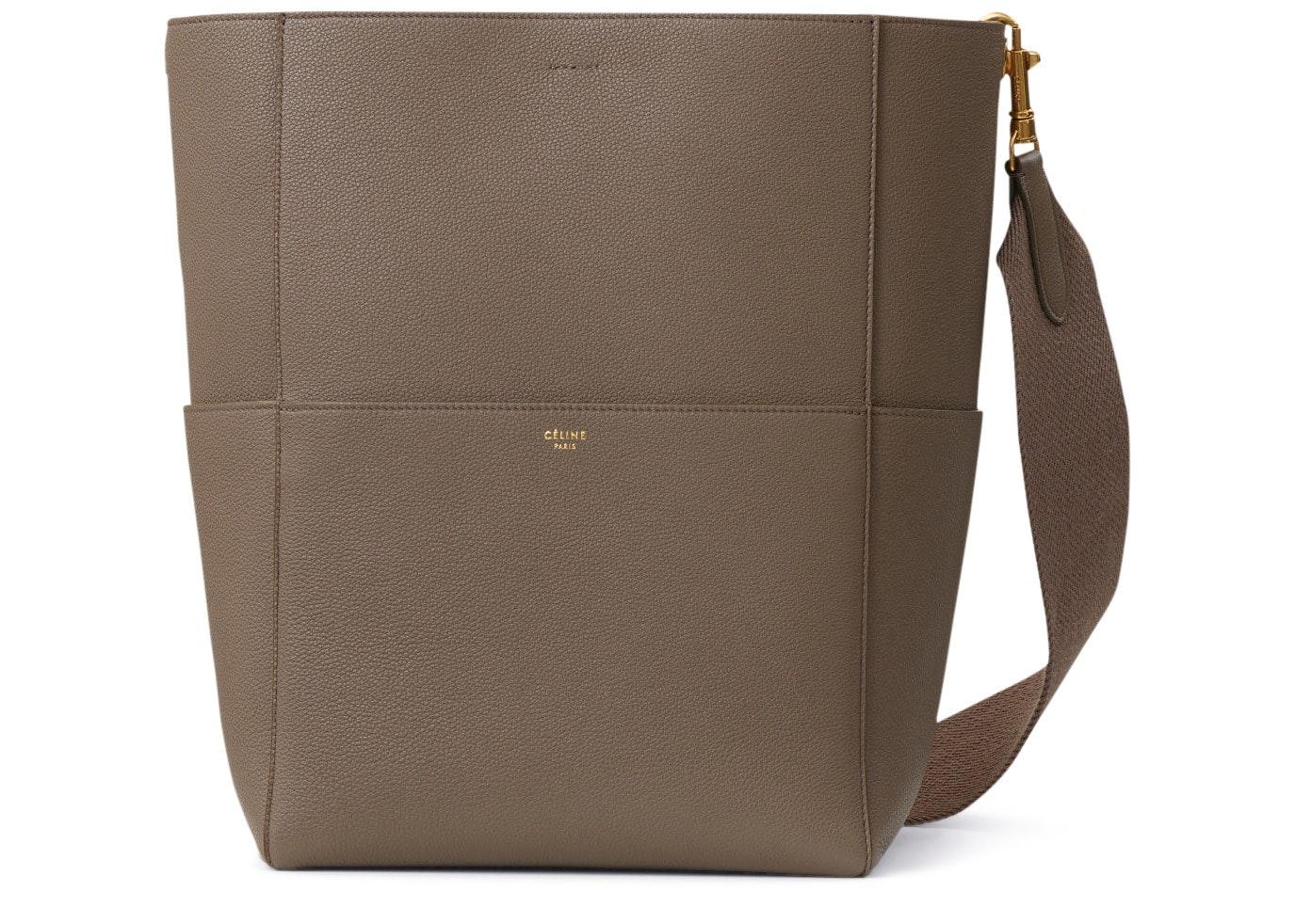 Celine Sangle Bucket Bag Cabas Taupe