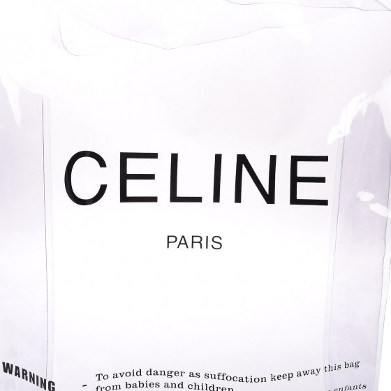 Celine Shopping Bag Plastic Clear