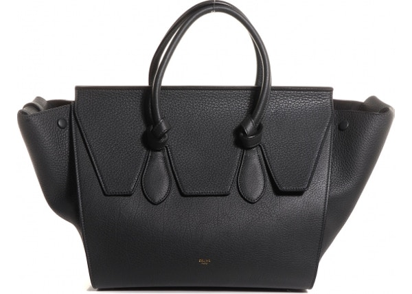 9b29a0026afe2 Celine Tie Knot Tote Small Black