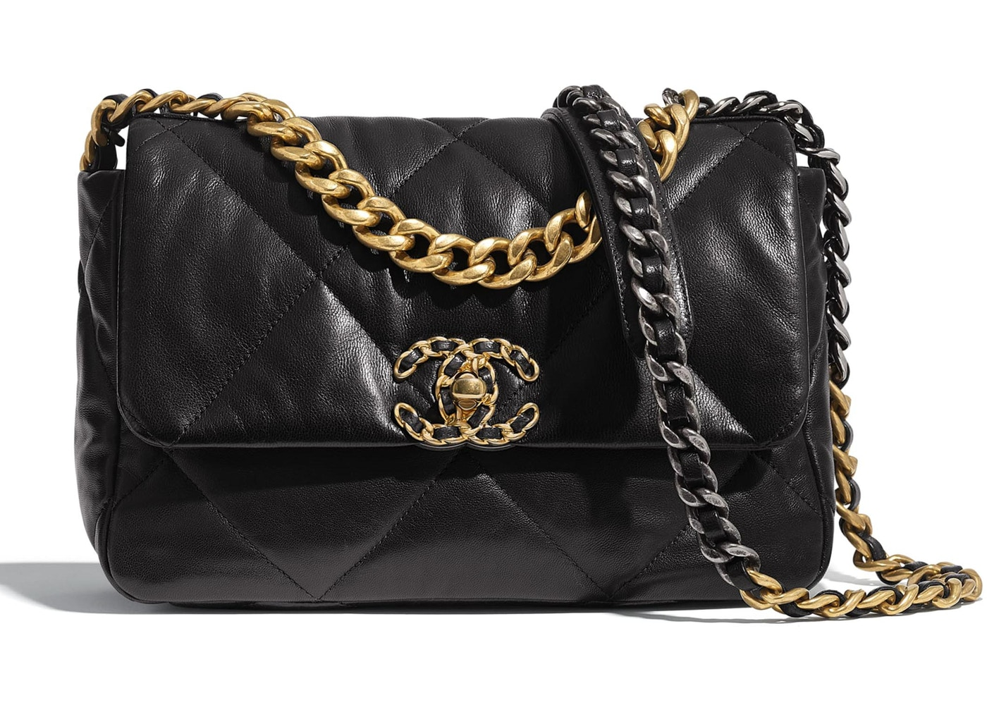 Chanel 19 Flap Bag Lambskin Gold