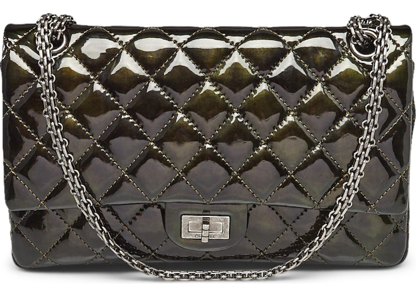d24aae67291d Chanel 2.55 Reissue Classic Flap Quilted Diamond Iridescent 226 Green.  Quilted Diamond Iridescent 226 Green