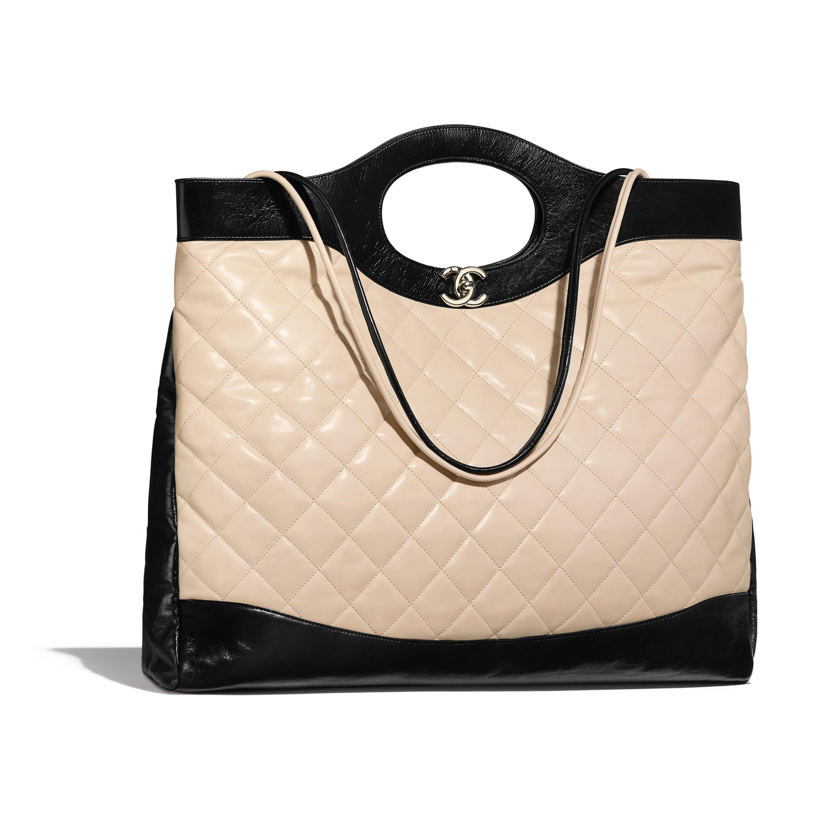 Chanel 31 Shopping Bag Large Beige/Black