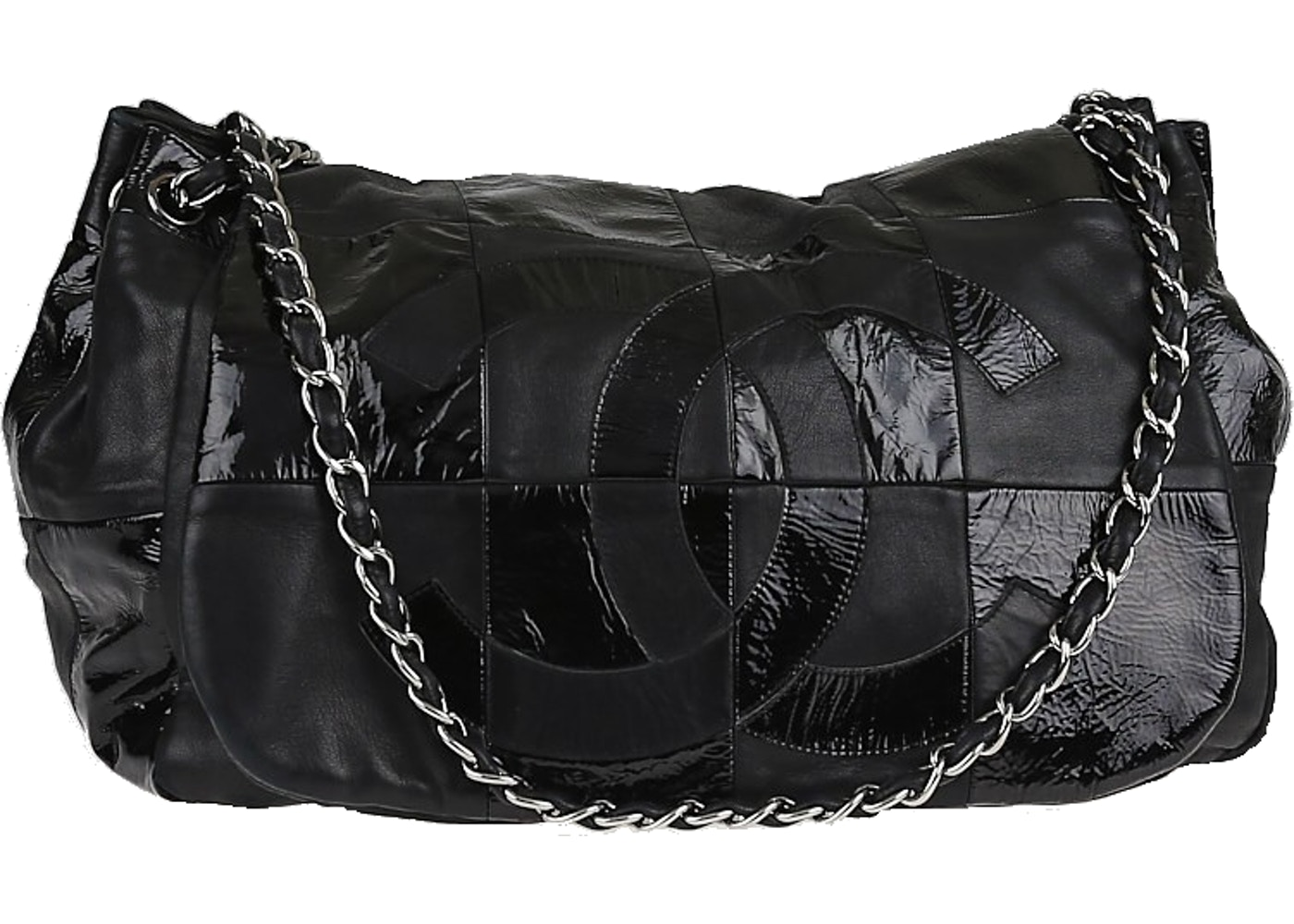41879fe4ced1 Sell. or Ask. View All Bids. Chanel Accordion Flap Brooklyn Ligne Patchwork  Black