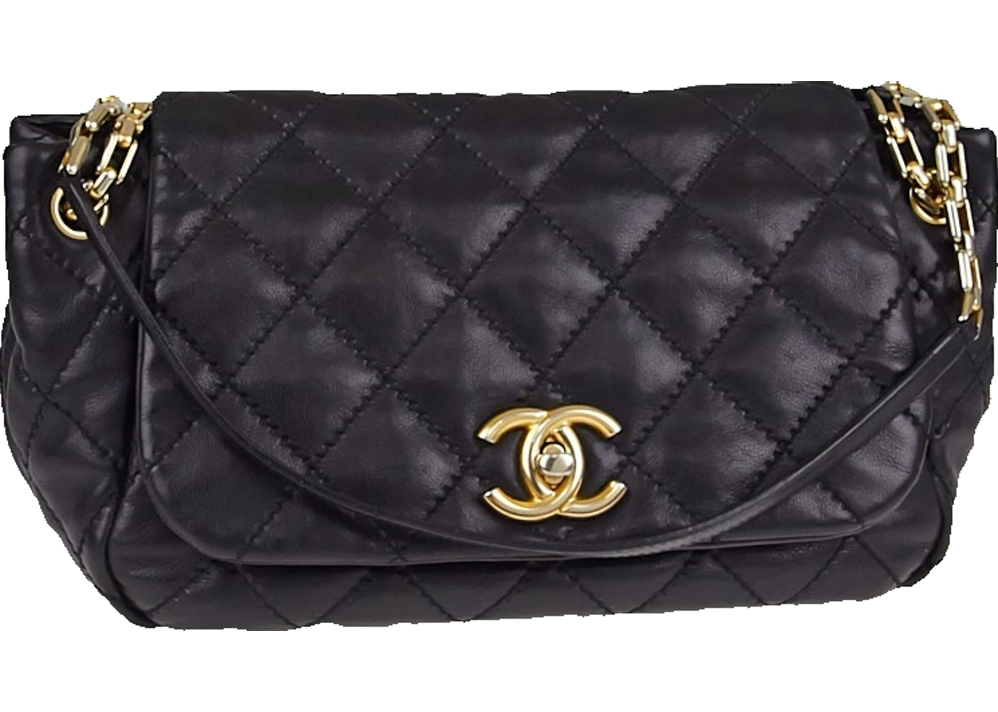 18db236db142a9 Sell. or Ask. View All Bids. Chanel Accordion Flap Retro Chain Quilted  Medium Black