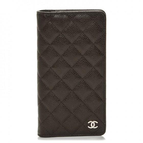 Chanel Agenda Cover Diamond Quilted Medium Dark Brown