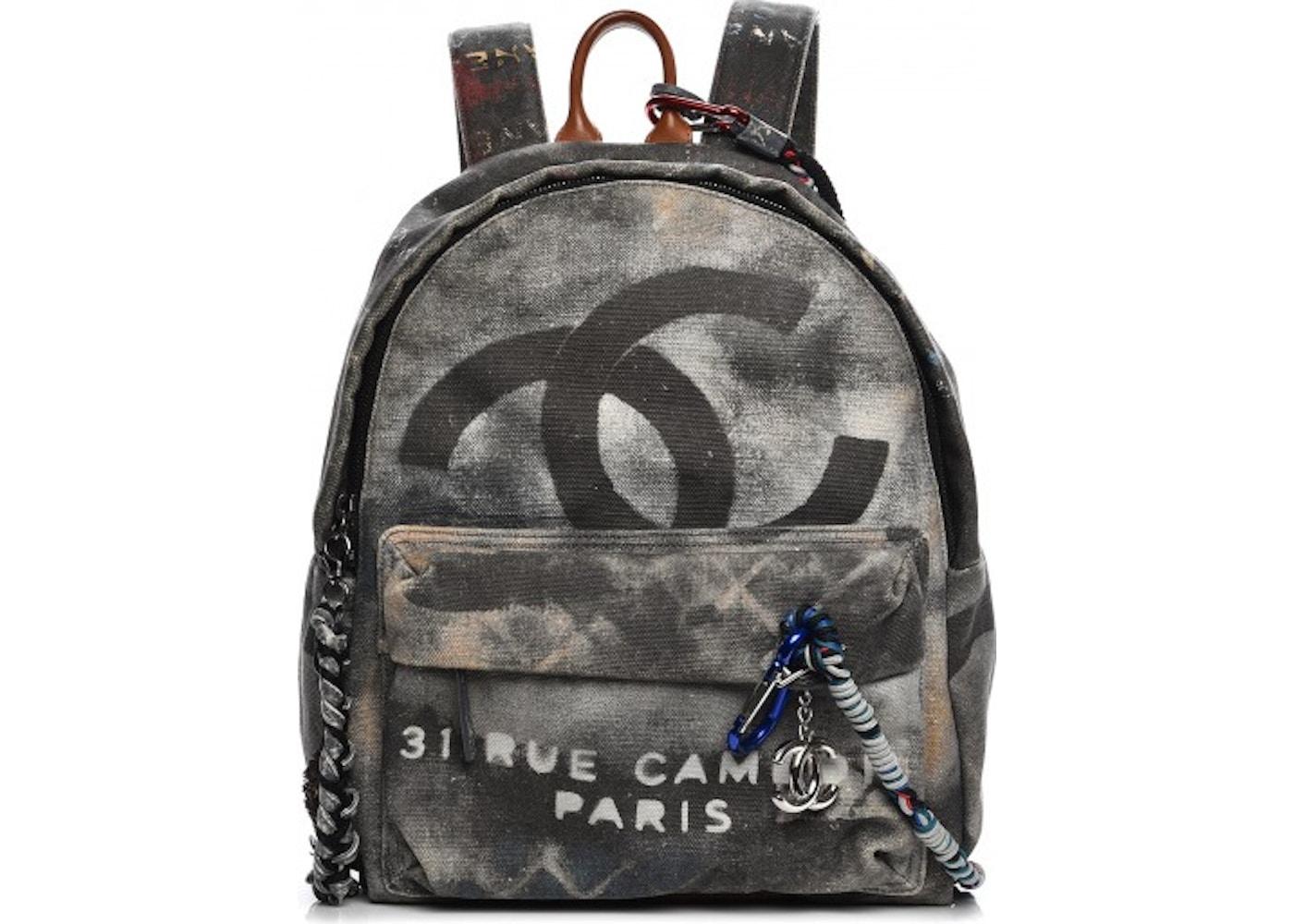 bcdf5d26c0f2 Chanel Art School Backpack Graffiti Medium Black