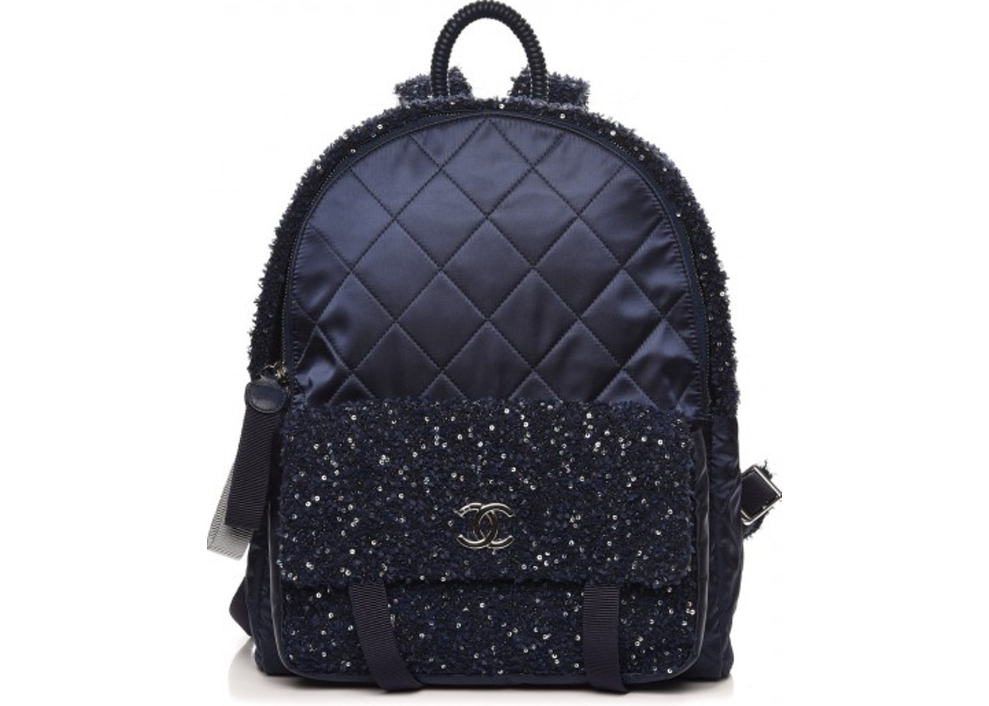 38a0ec15a7d1 Chanel Astronaut Essentials Backpack Quilted Diamond Iridescent ...