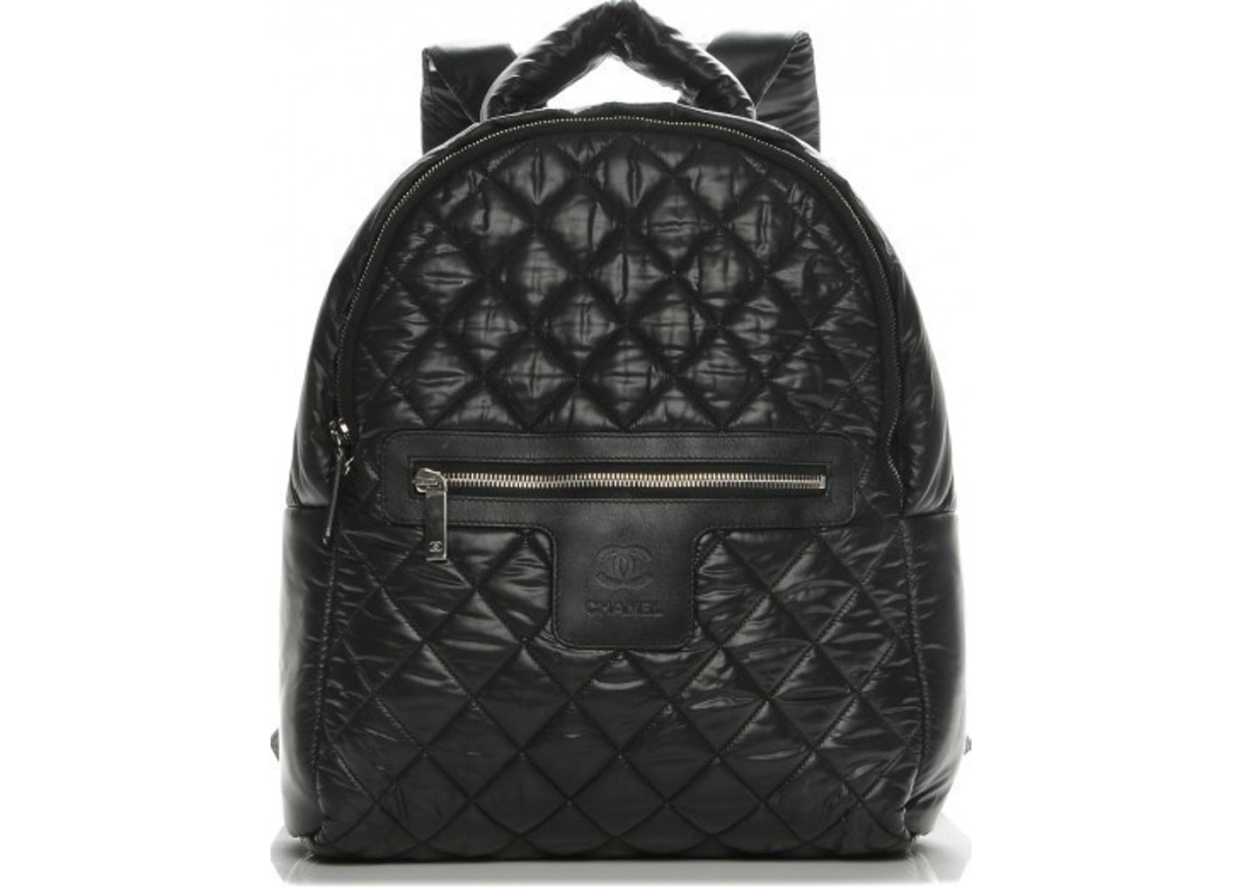 7709edc96ff6 Chanel Coco Cocoon Backpack Quilted Nylon Black