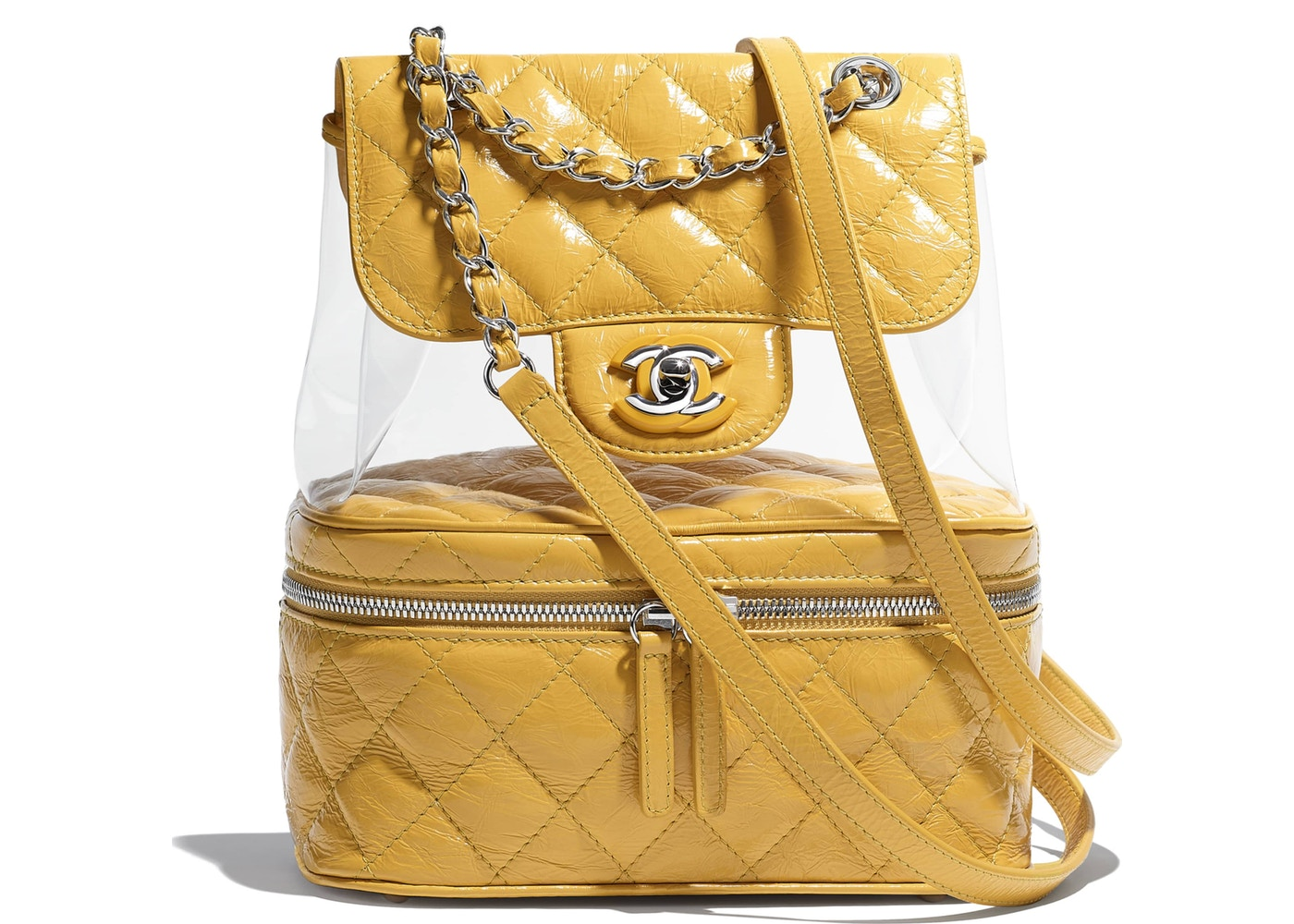 56fc1234109326 Chanel Backpack Transparent Yellow. Transparent Yellow