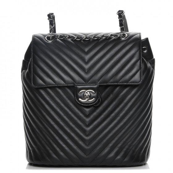 Chanel Urban Spirit Backpack Chevron Quilted Medium