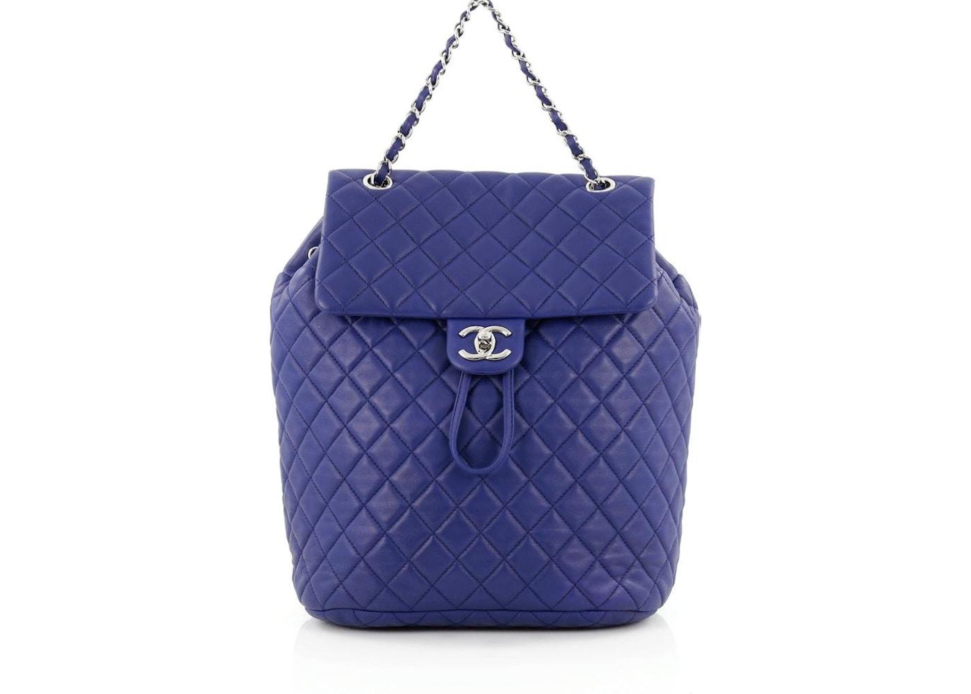 46db9b8b1dba Chanel Urban Spirit Backpack Quilted Diamond Large Royal Blue. Quilted  Diamond Large Royal Blue