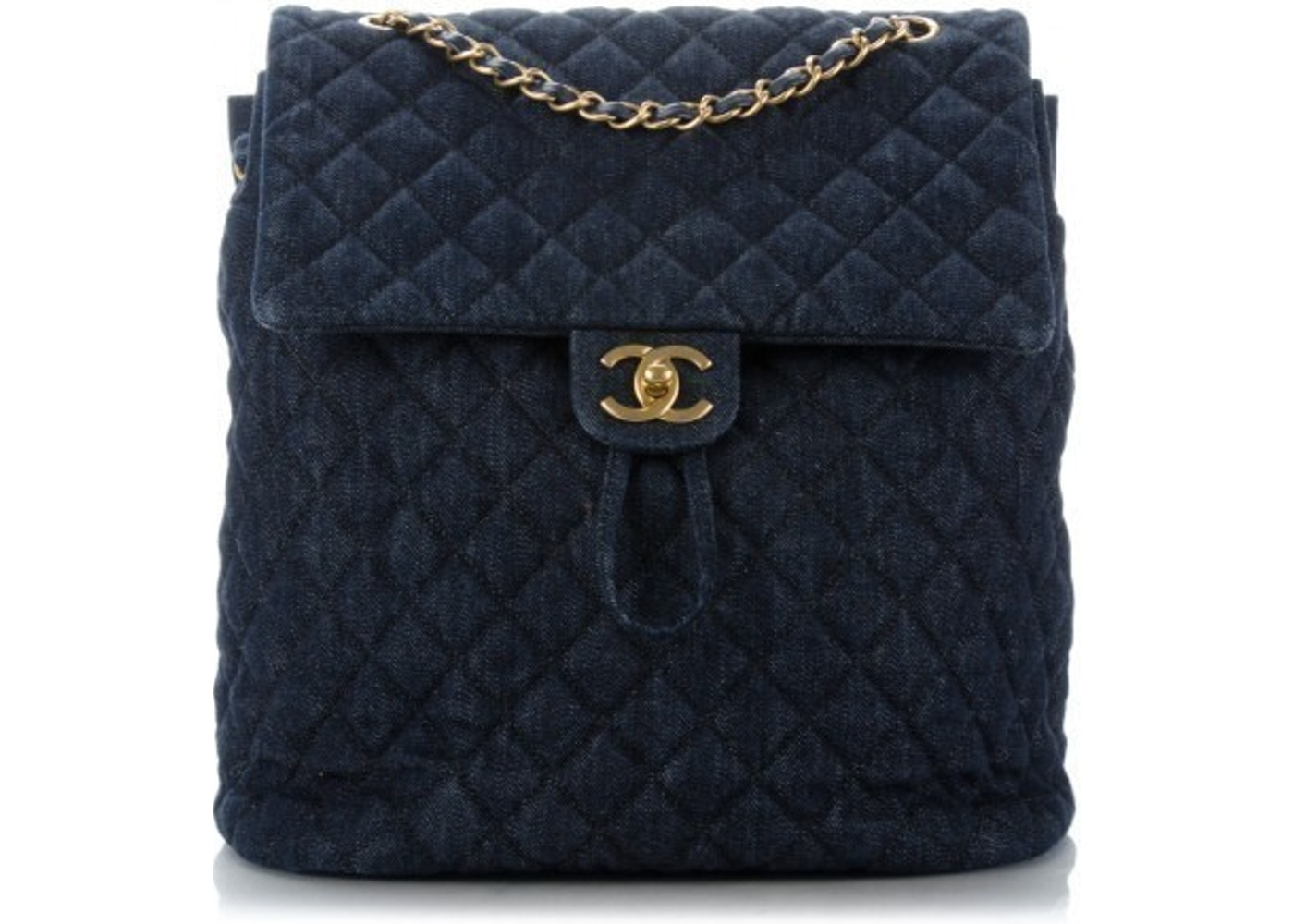 e206873e7616 Sell. or Ask. View All Bids. Chanel Urban Spirit Backpack Diamond Quilted  Washed Large Dark Blue