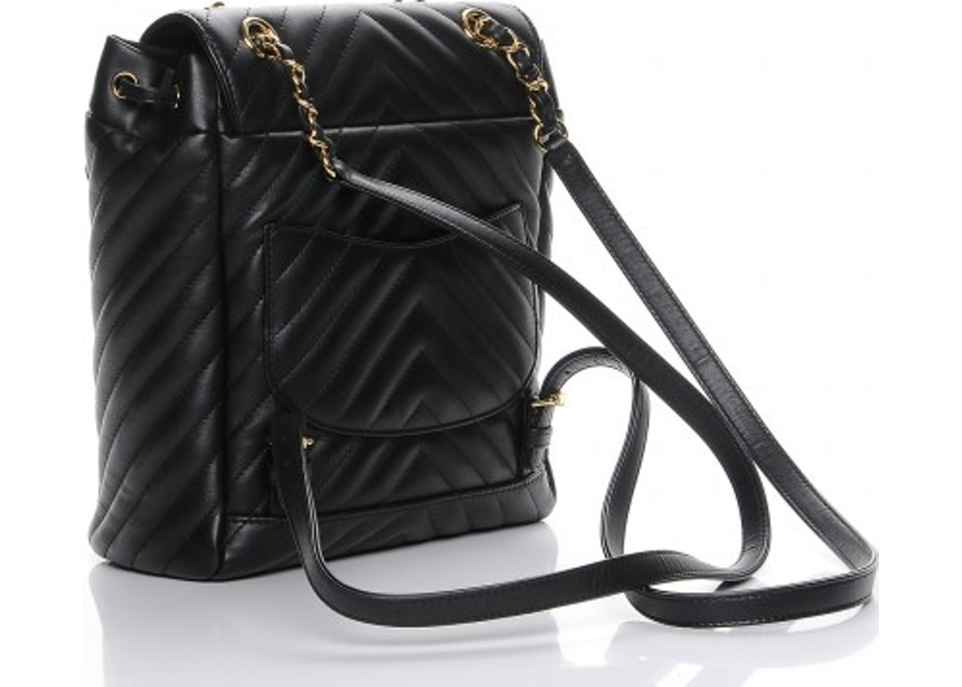 bc63350ab288 Chanel Urban Spirit Backpack Chevron Quilted Small Black