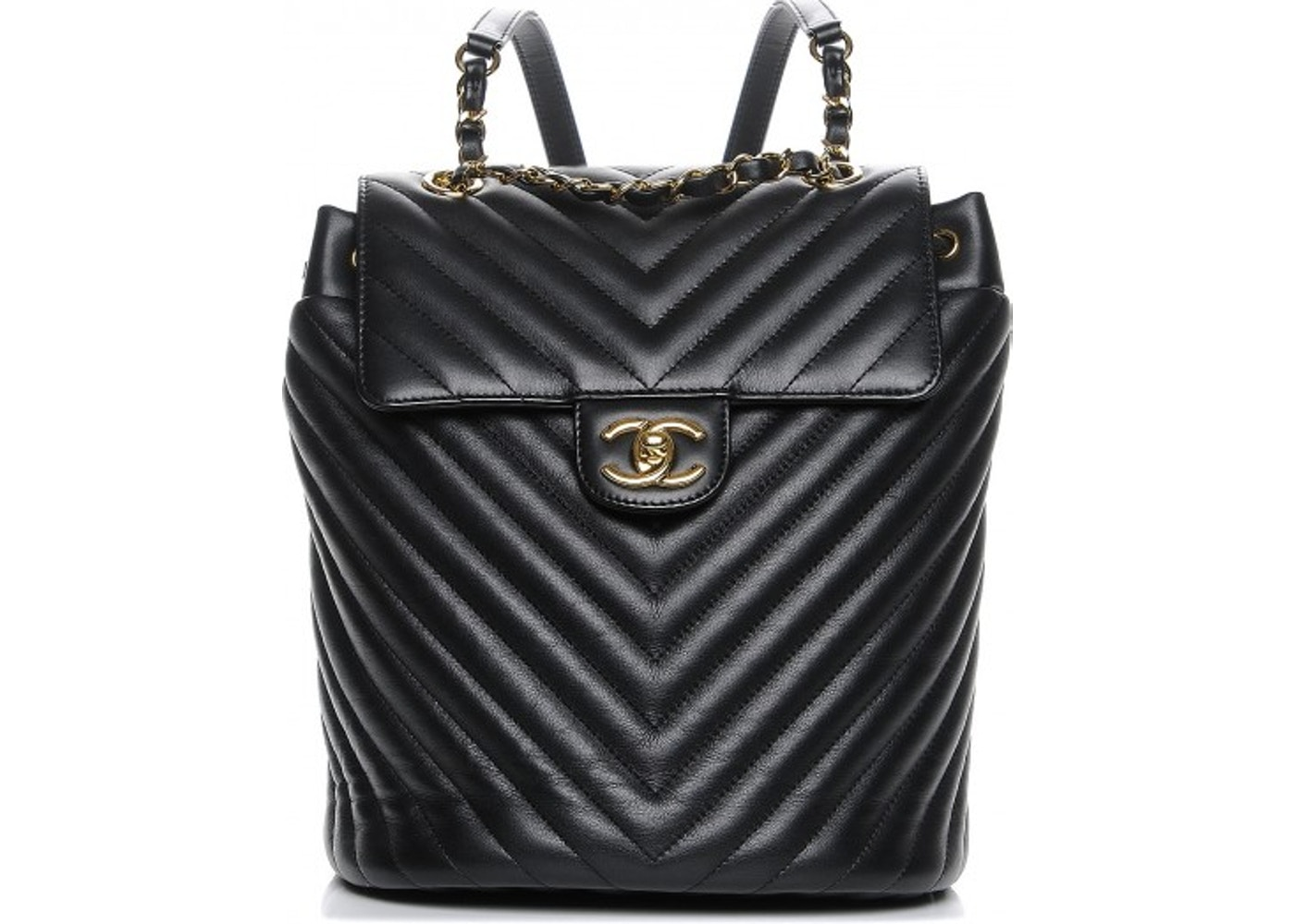 ae599f505ba5 Chanel Urban Spirit Backpack Chevron Quilted Small Black. Chevron Quilted  Small Black