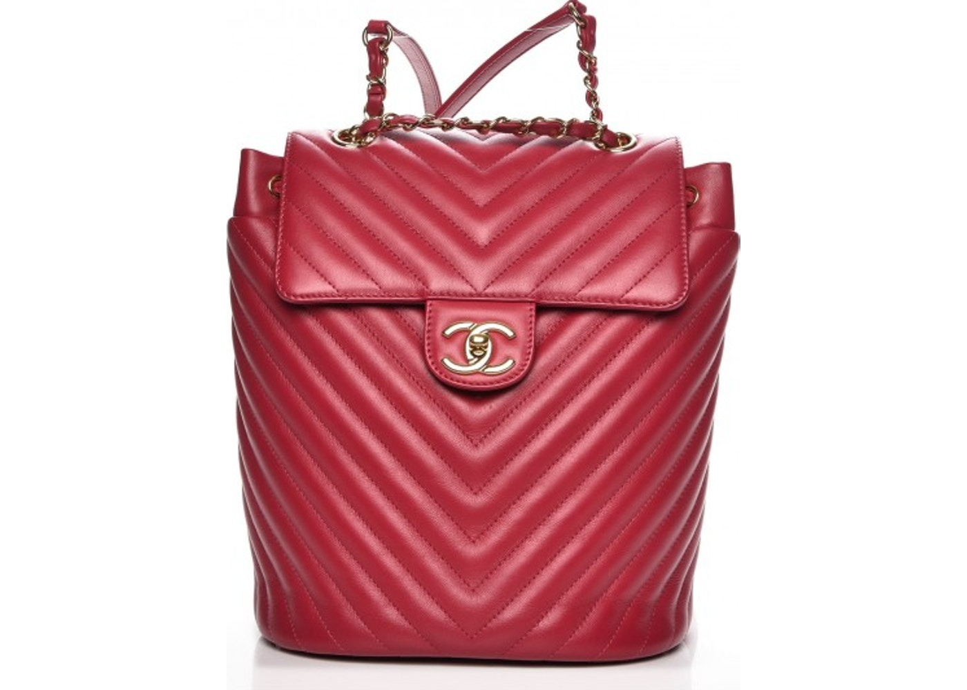 9c6a29476ffa Chanel Urban Spirit Backpack Quilted Chevron Small Dark Pink. Quilted  Chevron Small Dark Pink