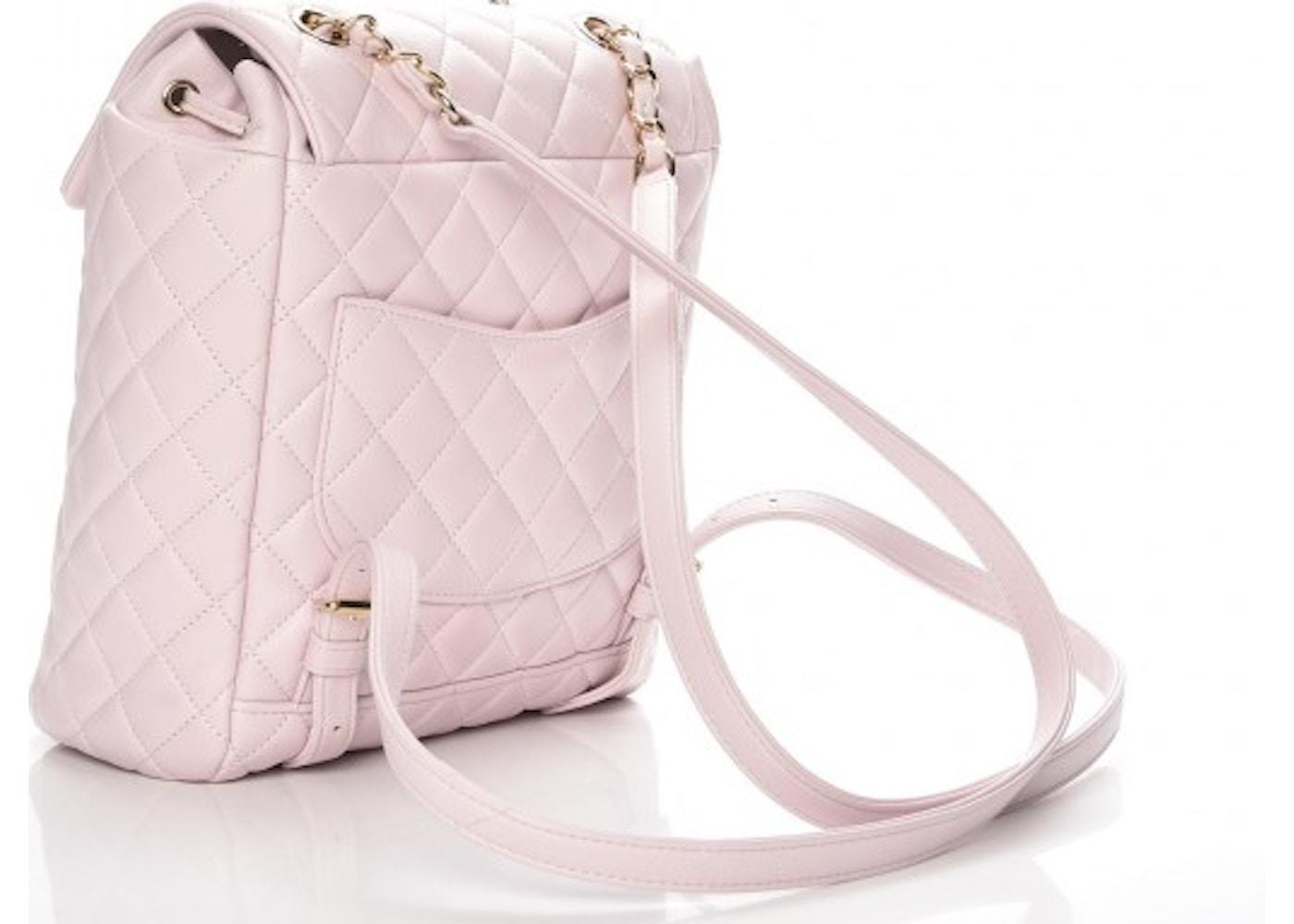 2127e7e79d0d Chanel Urban Spirit Backpack Quilted Diamond Small Light Pink