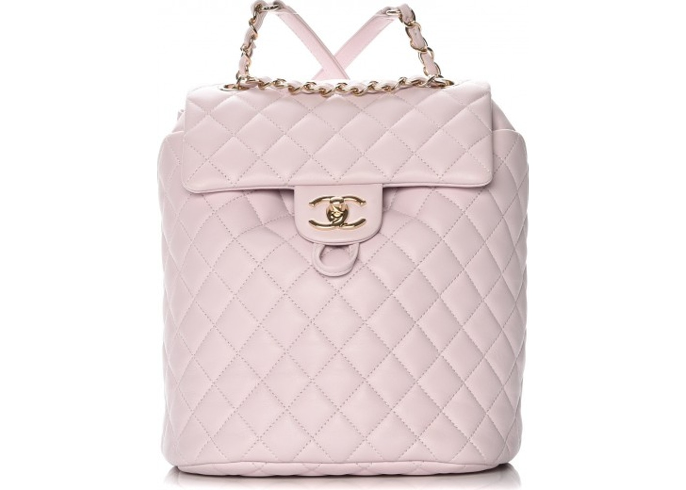 7aa72715a52a Chanel Urban Spirit Backpack Quilted Diamond Small Light Pink. Quilted  Diamond Small Light Pink