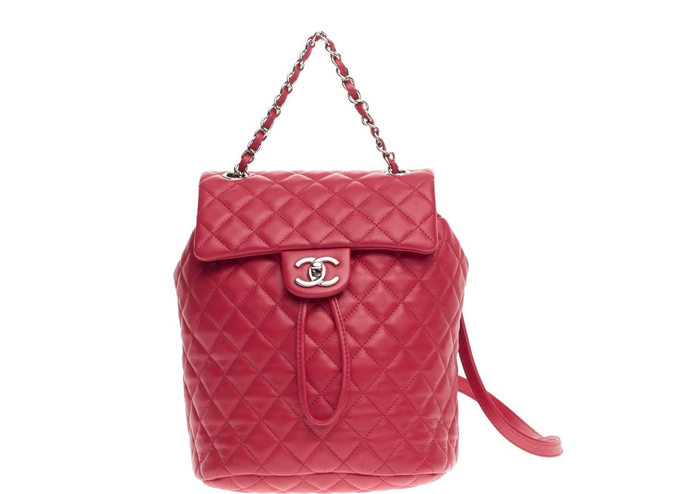 5708749307df Chanel Urban Spirit Backpack Quilted Diamond Small Red. Quilted Diamond  Small Red