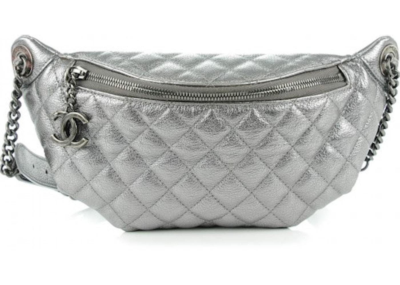 501fb749a49e Chanel Banane Waist Bag Quilted Metallic Silver. Quilted Metallic Silver