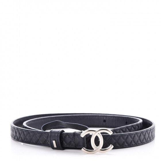 Chanel Belt Quilted Diamond Navy Blue