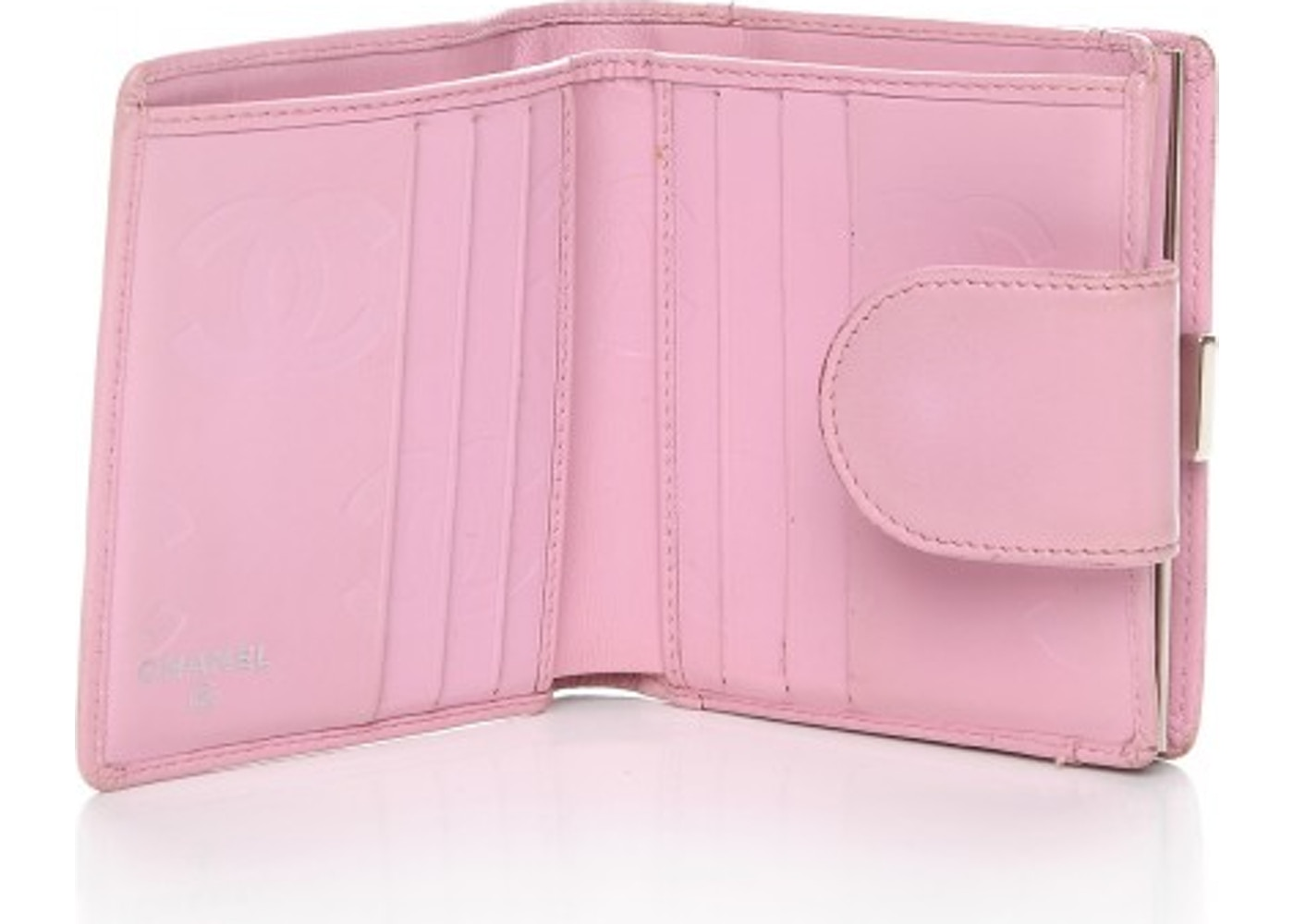 775e4489ab59fb Chanel Cambon Bi-Fold Wallet Diamond Quilted Pink