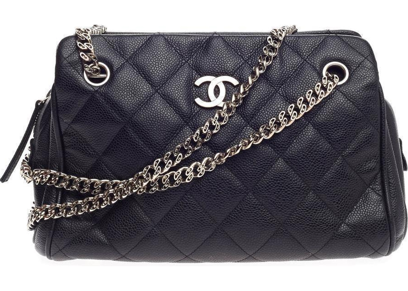 fa834c136c5c Chanel Tote Quilted Bijoux Chain Small Black
