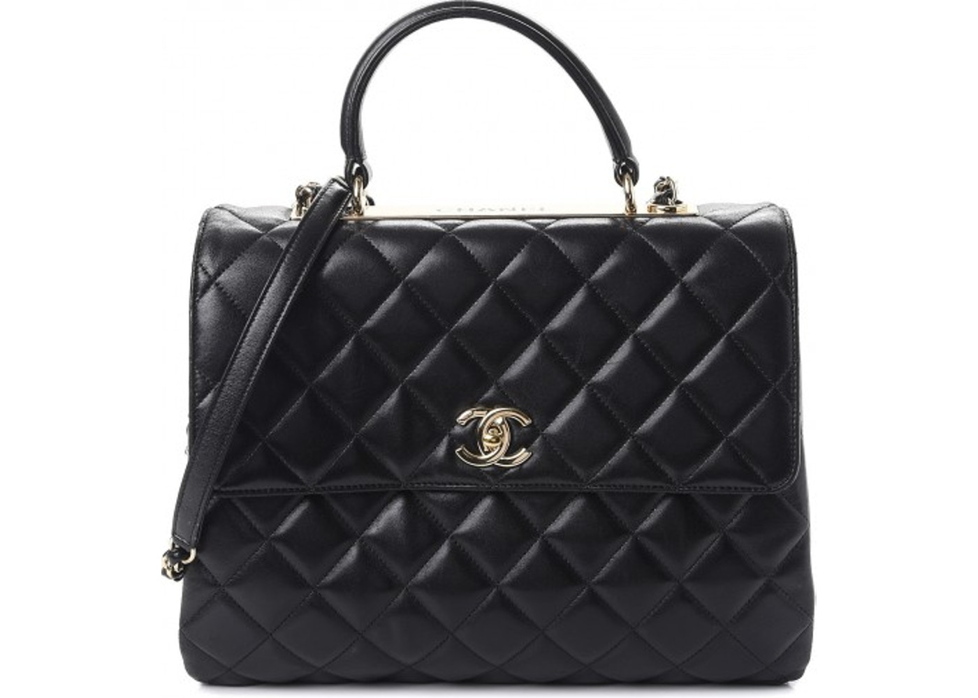 Chanel Flap Trendy CC Quilted Large Black 487f160ecd870