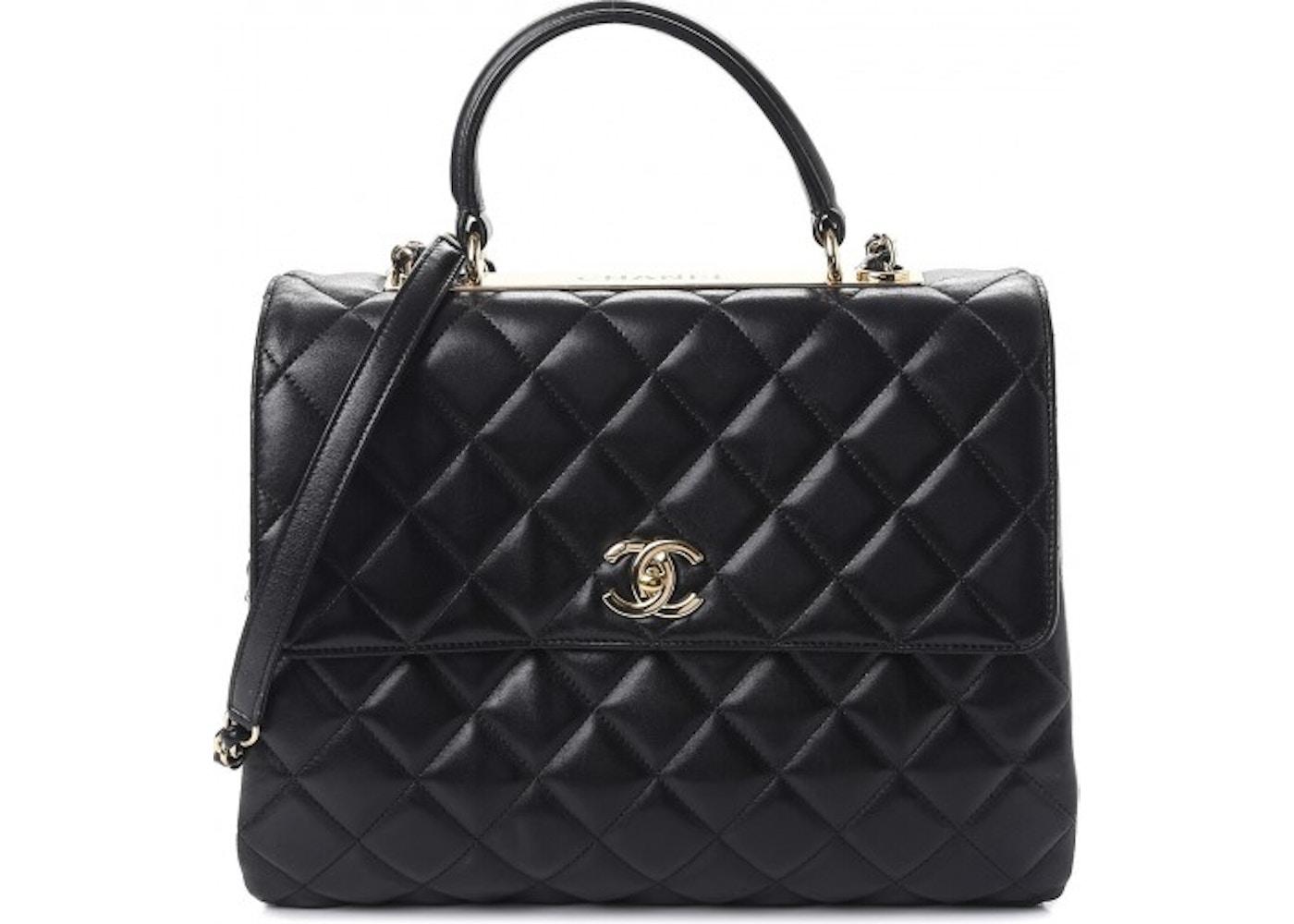 de9e90049829 Chanel Flap Trendy CC Quilted Large Black