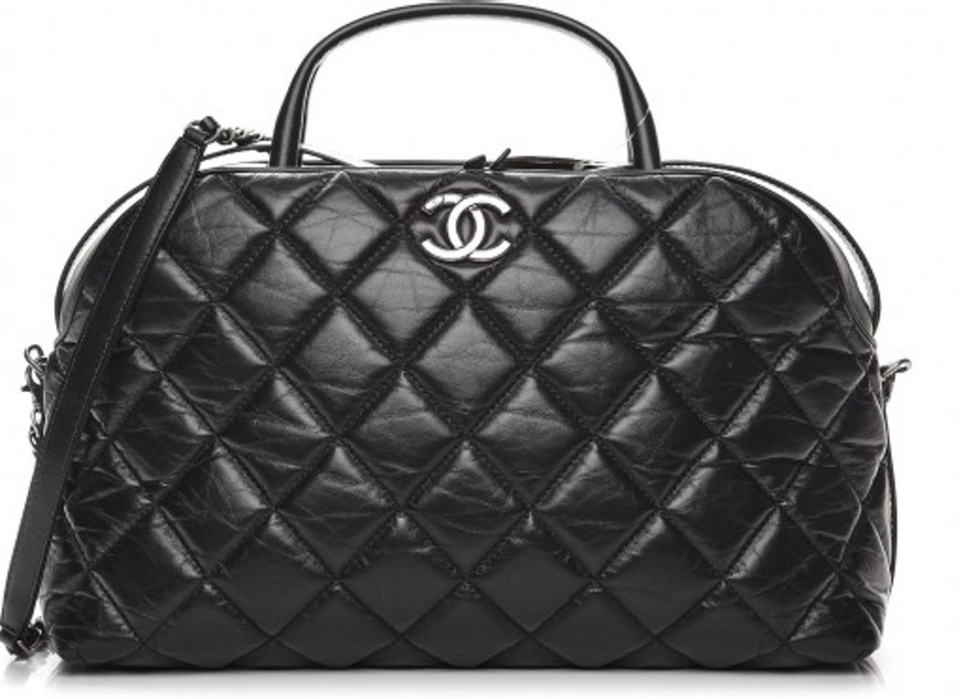 ceb2943dc72c Chanel Bowling Bag Quilted Small Black. Quilted Small Black