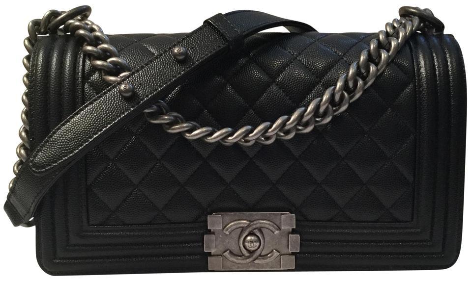 Chanel Boy Bag Quilted Old Medium Black