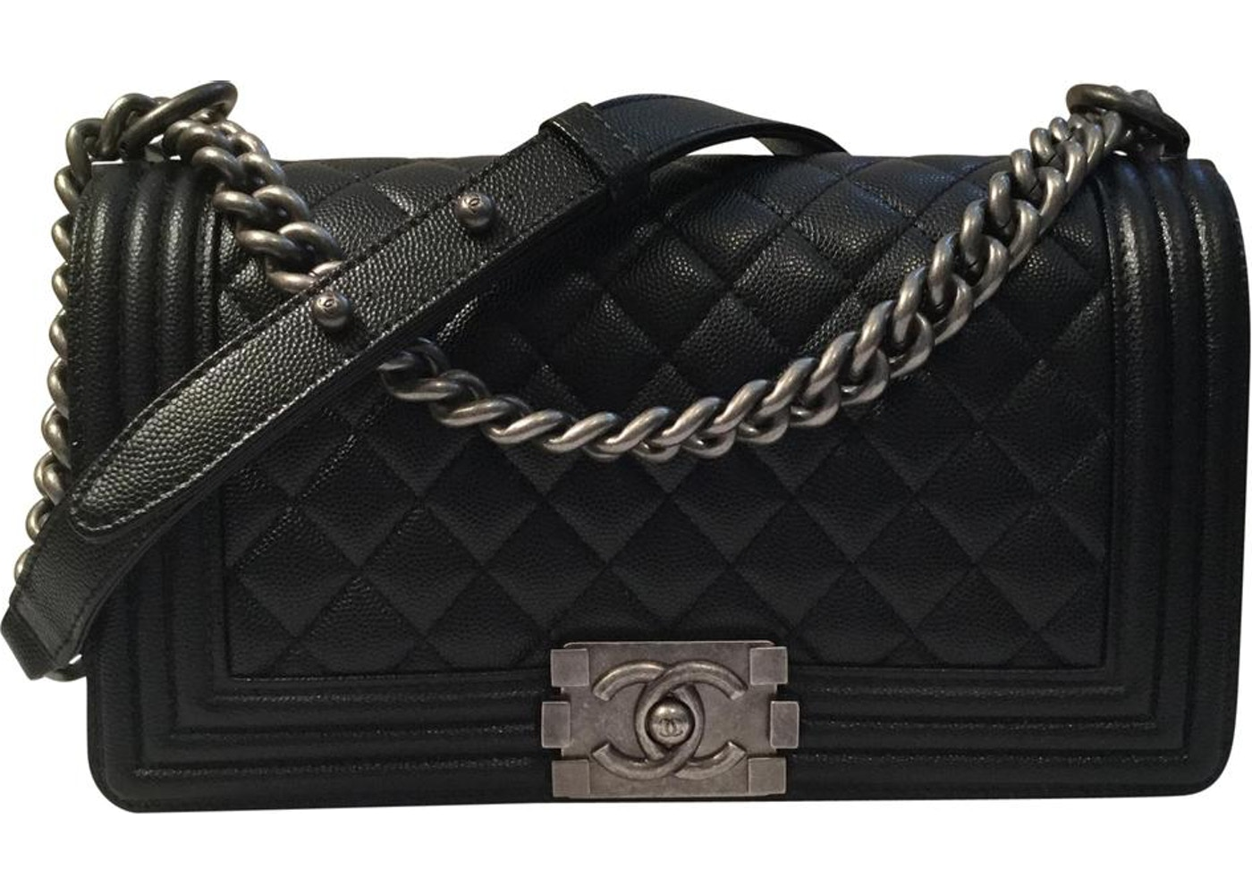 e46cb3a04bd3 Chanel Boy Bag Quilted Old Medium Black. Quilted Old Medium Black
