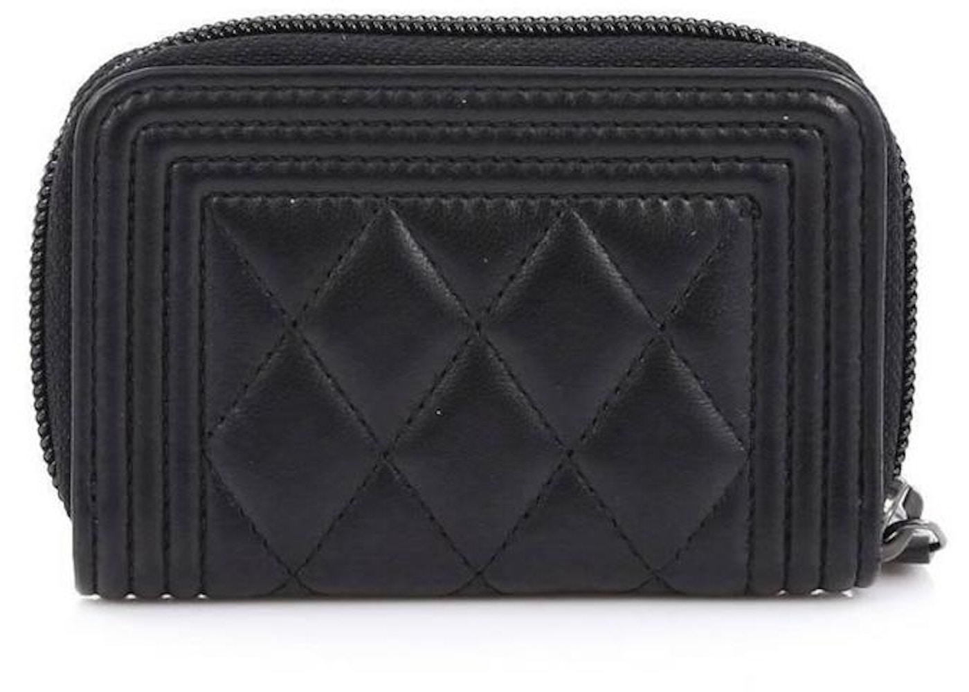 208690dc Chanel Coin Purse Quilted Small Black
