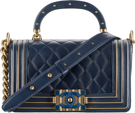 Chanel Top handle  Boy Flap Diamond Quilted Studded