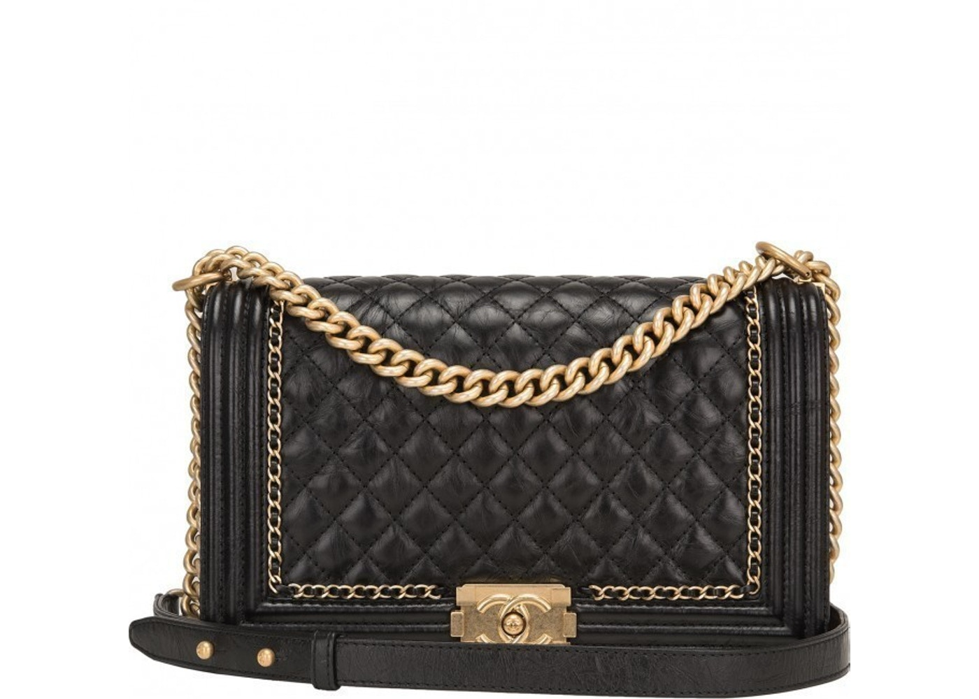 e27eaf0e017e Sell. or Ask. View All Bids. Chanel Boy Flap Quilted New Medium Black