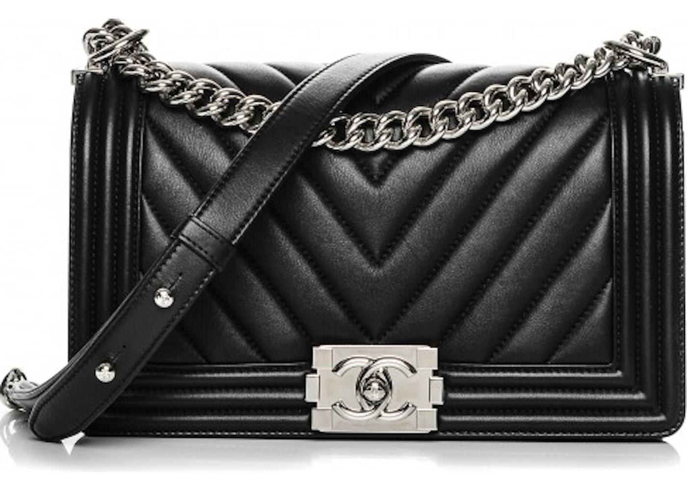 e42d3516e7a4 Chanel Boy Flap Chevron Quilted Medium Black