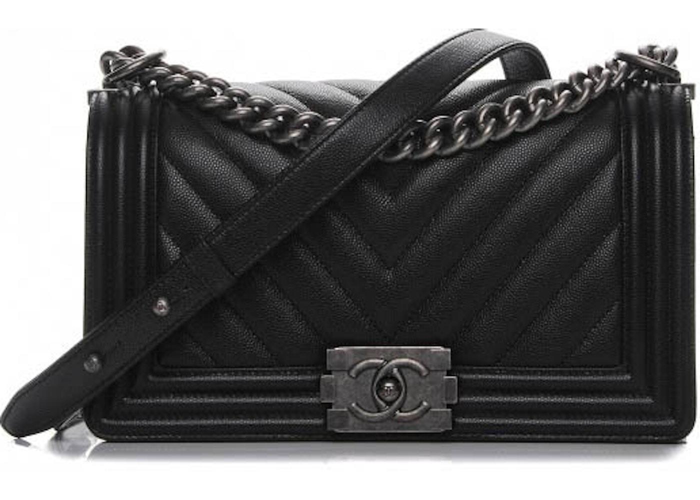 b5031834e38b Chanel Boy Flap Chevron Quilted Medium Black. Chevron Quilted Medium Black