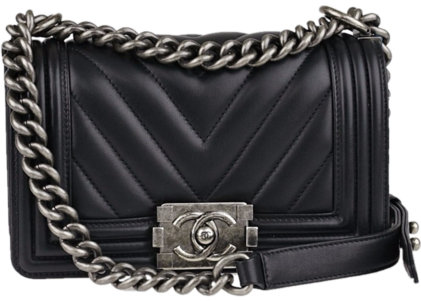 919e5a32bd3543 Sell. or Ask. View All Bids. Chanel Boy Flap Quilted Chevron Small Black